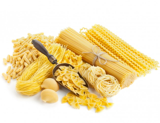 Sector of pasta / bread / sweets / vegetables / herbs